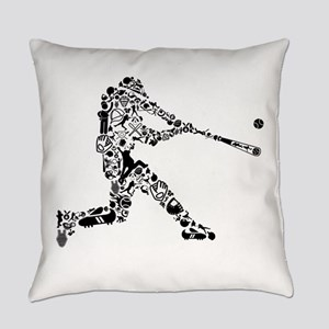 Baseball Player (in black) Everyday Pillow