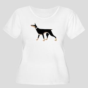 Dober Style Women's Plus Size Scoop Neck T-Shirt