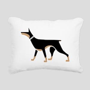 Dober Style Rectangular Canvas Pillow