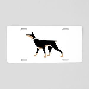 Dober Style Aluminum License Plate