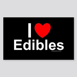 Edibles Sticker (Rectangle)