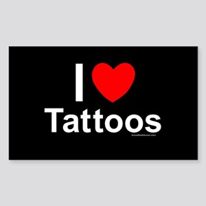 Tattoos Sticker (Rectangle)
