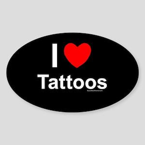 Tattoos Sticker (Oval)