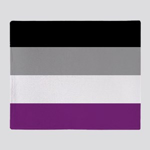 Asexual Pride Throw Blanket