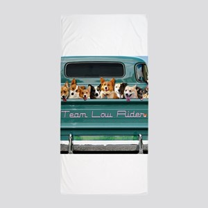 Corgi Pick Me Up! Beach Towel