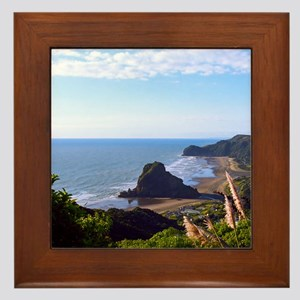 Piha Surf Beach NZ Framed Tile