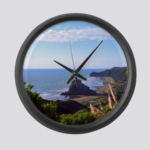 Piha Surf Beach NZ Large Wall Clock