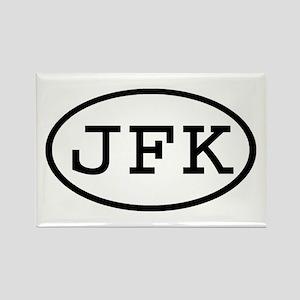 JFK Oval Rectangle Magnet