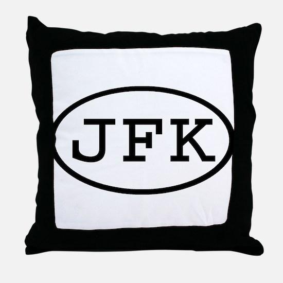 JFK Oval Throw Pillow