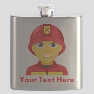 Emoji Personalized Firefighter Flask