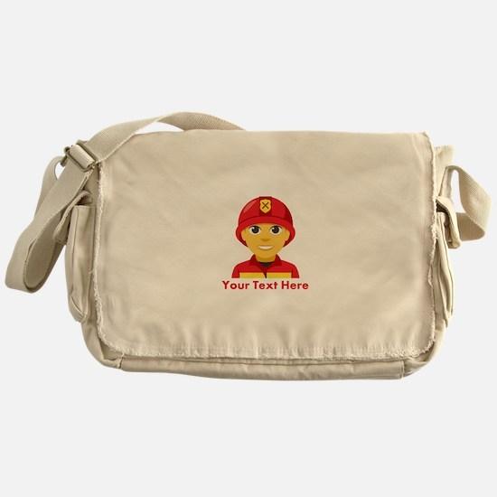 Emoji Personalized Firefighter Messenger Bag