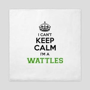 WATTLES I cant keeep calm Queen Duvet