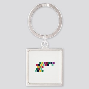 Colorful Honeycombs Keychains