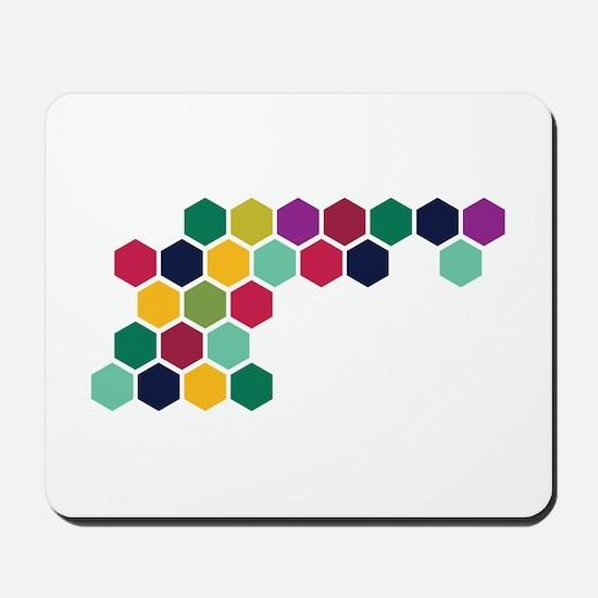 Colorful Honeycombs Mousepad