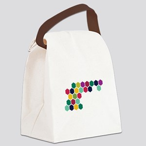 Colorful Honeycombs Canvas Lunch Bag