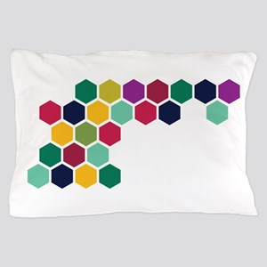 Colorful Honeycombs Pillow Case