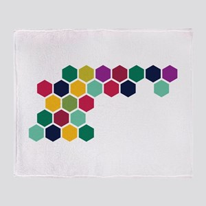 Colorful Honeycombs Throw Blanket