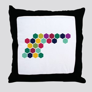 Colorful Honeycombs Throw Pillow