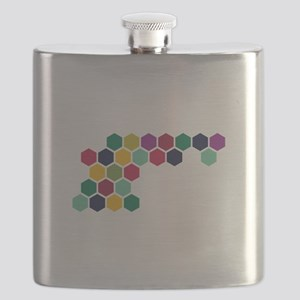 Colorful Honeycombs Flask