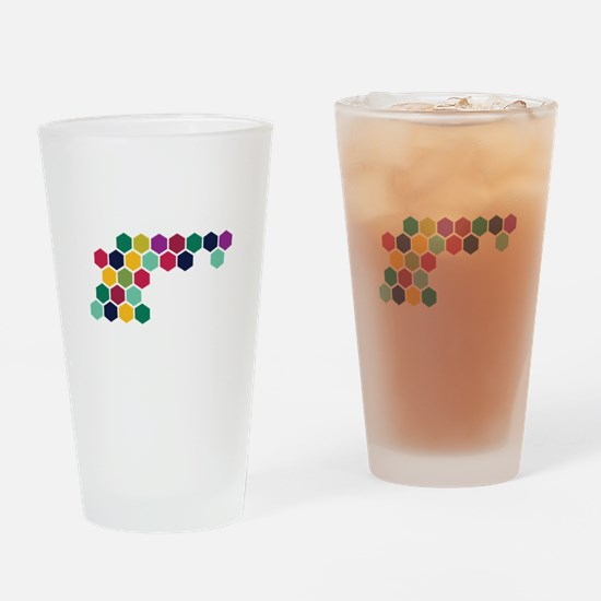 Colorful Honeycombs Drinking Glass