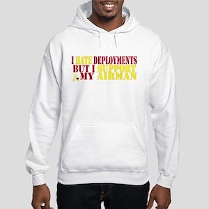 hate deployments Hooded Sweatshirt