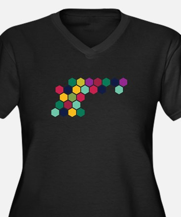 Colorful Honeycombs Plus Size T-Shirt