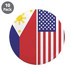 Philippine Flag & US Flag 3.5