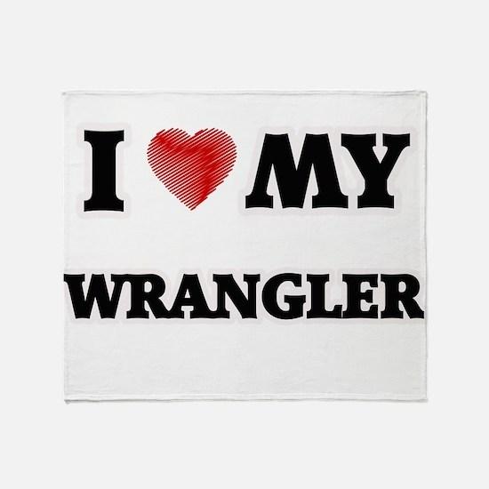 I love my Wrangler Throw Blanket