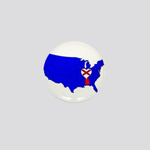 State of Alabama Mini Button