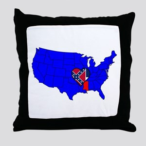 State of Delaware Throw Pillow