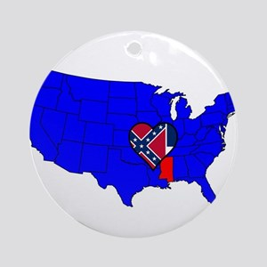 State of Delaware Round Ornament