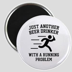 Beer Drinker Running Problem Magnet
