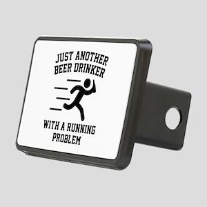 Beer Drinker Running Problem Rectangular Hitch Cov