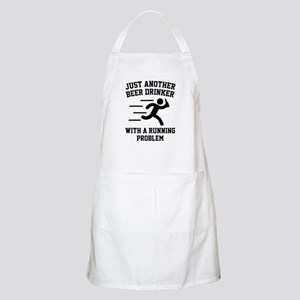 Beer Drinker Running Problem Apron
