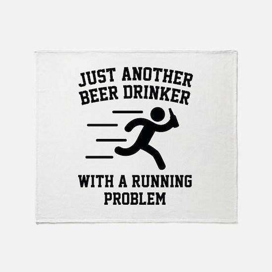 Beer Drinker Running Problem Stadium Blanket