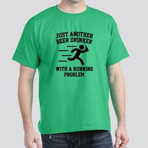 Beer Drinker Running Problem Dark T-Shirt