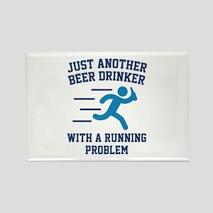 Beer Drinker Running Problem Rectangle Magnet