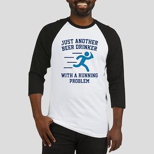 Beer Drinker Running Problem Baseball Jersey