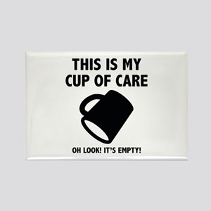 Cup Of Care Rectangle Magnet