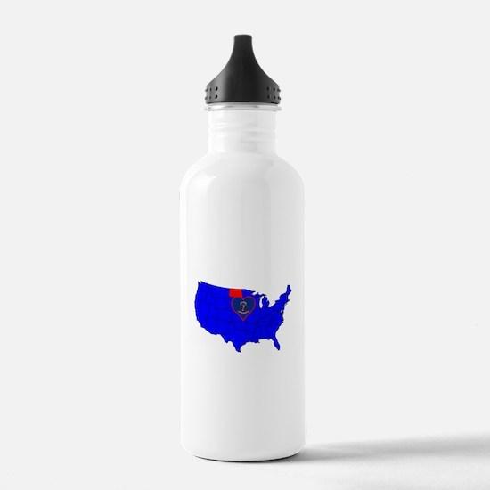 State of North Dakota Water Bottle