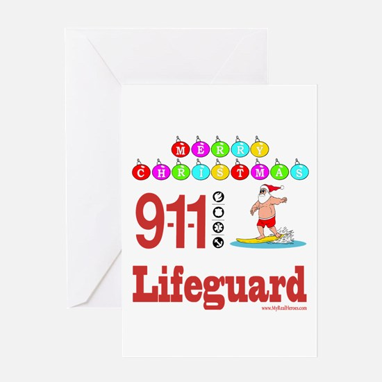 Lifeguard Christmas Shirts an Greeting Card