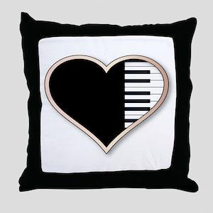 Love Piano Throw Pillow