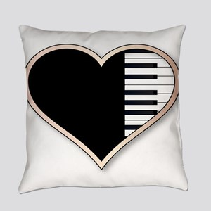 Love Piano Everyday Pillow