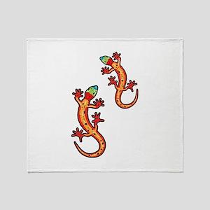 Geckos multicoloured Throw Blanket
