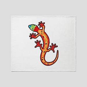 Gecko multicoloured Throw Blanket