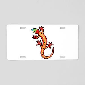 Gecko multicoloured Aluminum License Plate