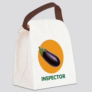 Eggplant Inspector Canvas Lunch Bag