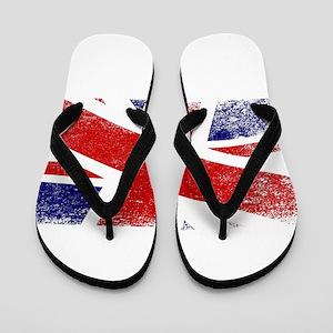 Union Jack Fade Flip Flops