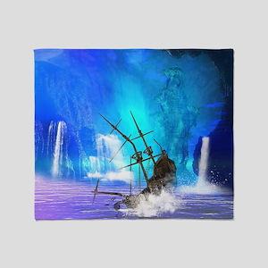 Shipwreck Throw Blanket