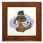 Thanksgiving Puppy Framed Tile